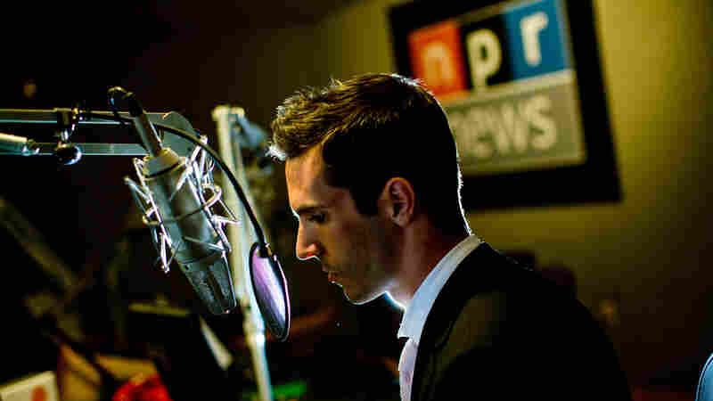 NPR International Correspondent Ari Shapiro in a studio at the NPR headquarters in Washington, D.C.