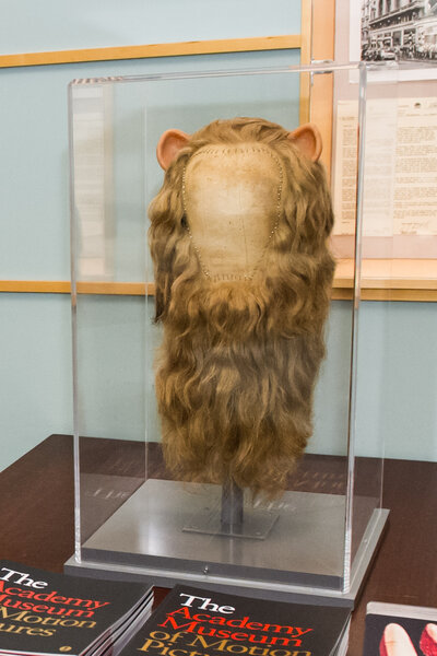 The Cowardly Lion's mane in Dorothy and the Wizard of Oz was made from real, blond, human hair.