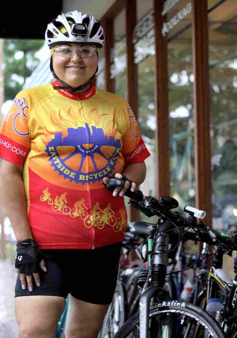 "Gabriela ""Gabby"" Bilich never thought she'd end up riding a bike as her main source of exercise. ""All I ever saw were middle-aged men in Lycra riding around,"" she says."