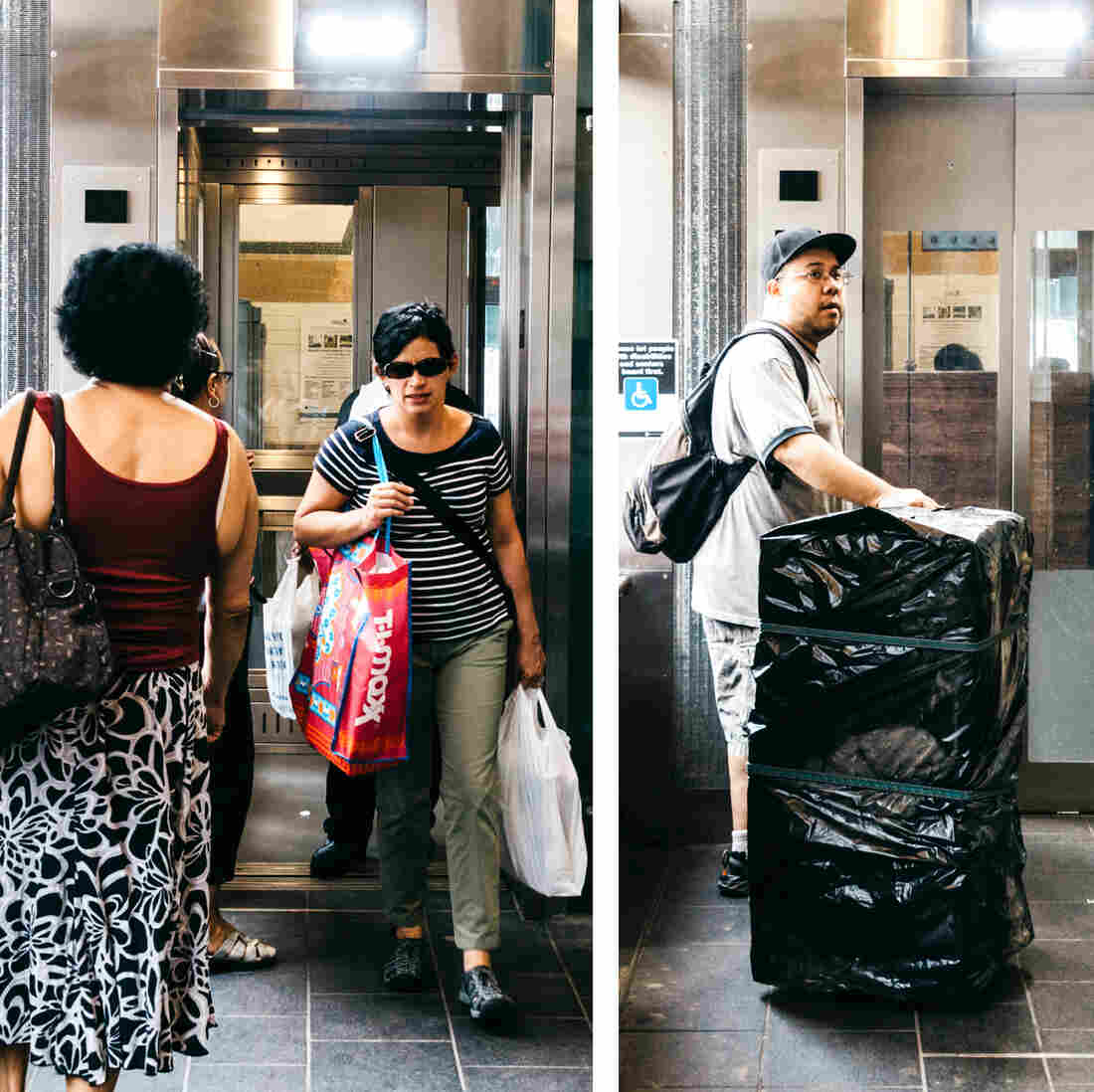 """This elevator is a gift from the disability community and the ADA to the nondisabled people of New York,"" says Attorney Wolinsky, who co-founded Disability Rights Advocates. The elevator at the Dyckman Street Subway Station in Inwood, Manhattan, helps people of all abilities reach the platform."