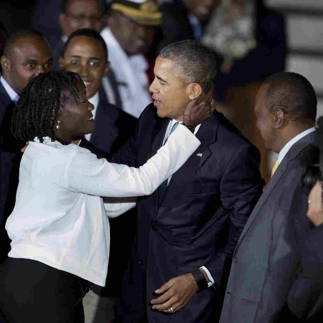 Obama Greeted Warmly On First Presidential Trip To Kenya