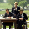 """President George H.W. Bush signed the Americans with Disabilities Act on the South Lawn of the White House on July 26, 1990. """"Let the shameful wall of exclusion finally come tumbling down,"""" he said that day."""