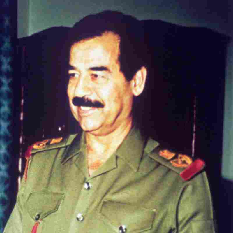 Iraq President Saddam Hussein is shown in Baghdad in January 1991, just before the first U.S. war in Iraq. The American forces would oust the Iraqi leader 12 years later in a second war.
