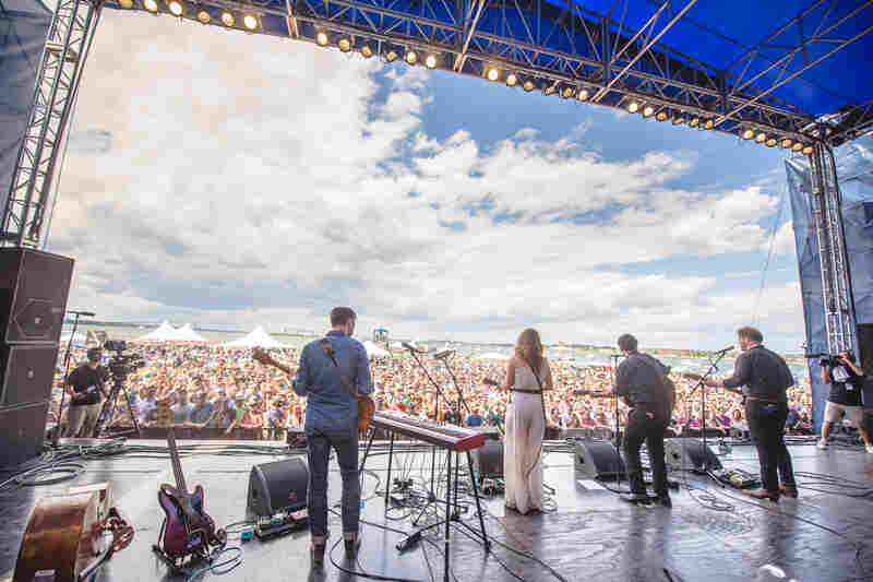 The Lone Bellow performed Friday at the 2015 Newport Folk Festival.