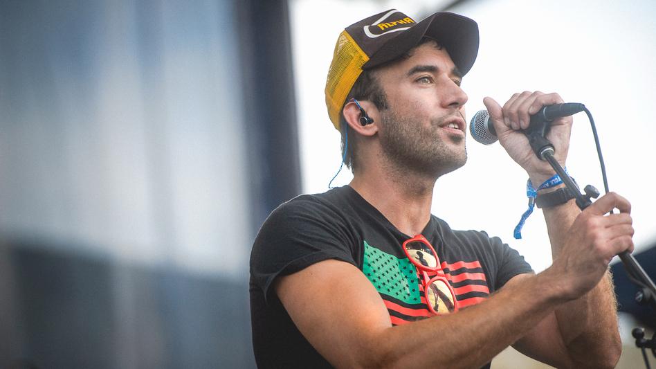 Sufjan Stevens performed Saturday at the 2015 Newport Folk Festival. (Adam Kissick for NPR)