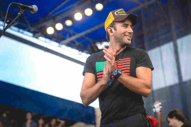 Sufjan Stevens looked just as happy as his audience when he performed Saturday at the 2015 Newport Folk Festival.