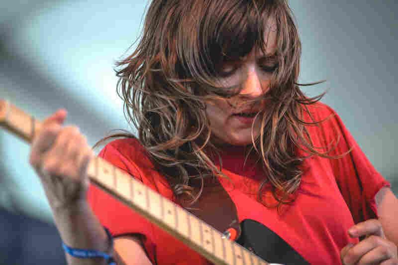 No acoustic guitars were harmed in Courtney Barnett's set.