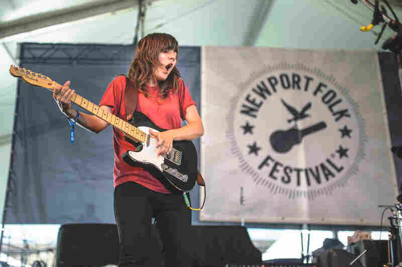 Courtney Barnett was the loudest at a pretty loud Quad Stage on Saturday, which also featured Sturgill Simpson and Langhorne Slim.