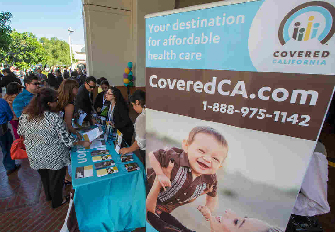 """At sign-up events like this one in Los Angeles in 2013, Covered California pledged """"affordability"""" in health insurance as one of its main selling points."""