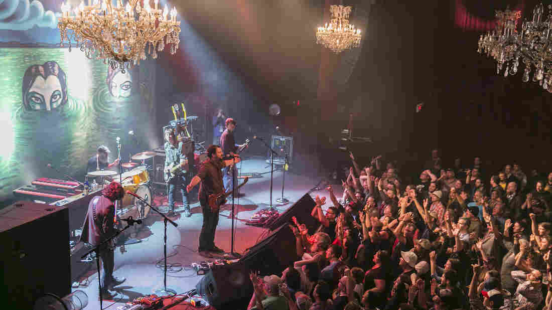 Drive-By Truckers on stage at the Fillmore Auditorium in San Francisco, where It's Great To Be Alive! was recorded.