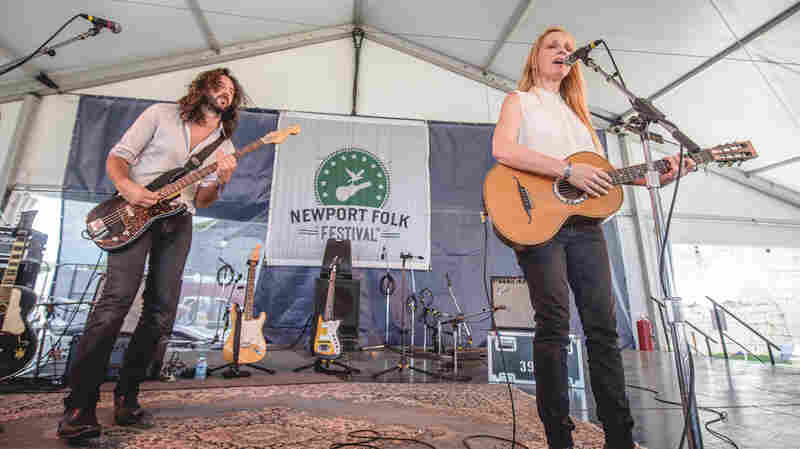 Luluc performs at the 2015 Newport Folk Festival.