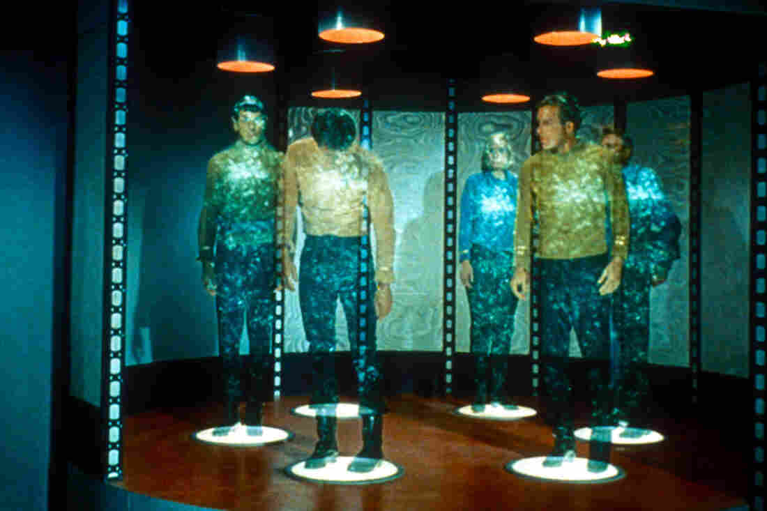 Star Trek's Mr. Spock and Captain Kirk never even lose pocket change when they use a transporter to get from TV's Starship Enterprise to distant worlds. What gives?