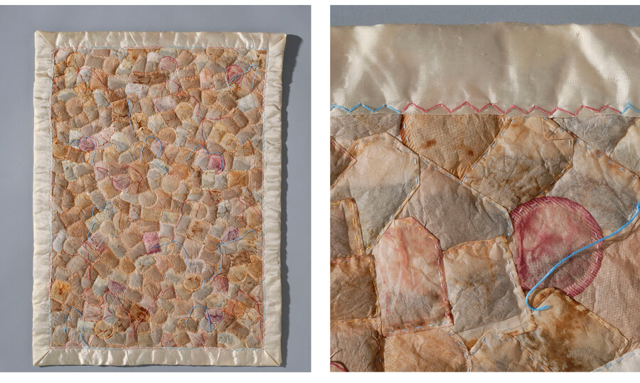 tea bags get second life as works of art
