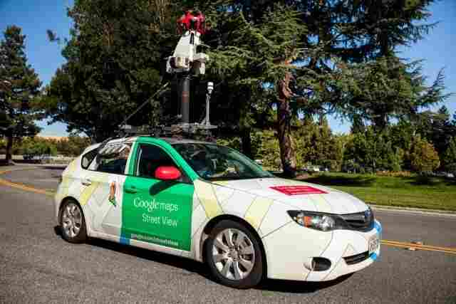 A Google Street View car equipped with Aclima mobile sensors that can track air pollution in real time.