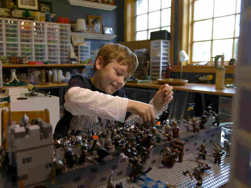 Thorin Finch (son of Seattle Lego legend Alice Finch) plays with bricks in the family's Lego room. But filmmakers Kief Davidson and Daniel Junge say Lego is now much more than just a toy.