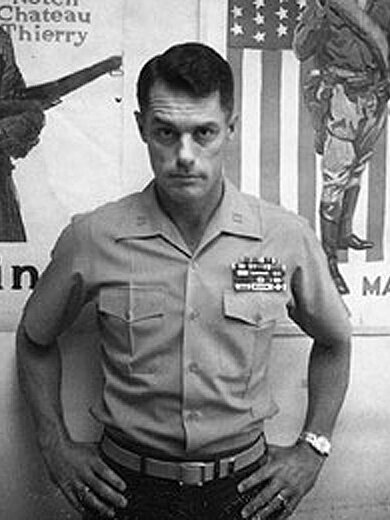 "This is Donnie Dunagan in 1974, during his time in the Marine Corps. Even if anyone had known, it's tough to imagine anyone calling him ""Maj. Bambi"" to his face then anyway."