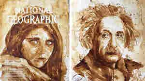 (Left) Afghan girl; (Right) Albert Einstein, by Maria Aristidou