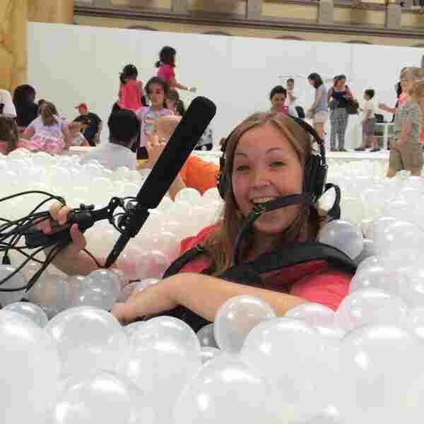 Sometimes NPR's interns go 'swimming' at the Building Museum