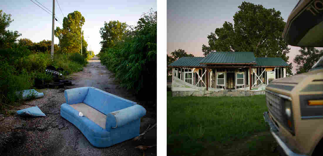 Ten years after Katrina and the flooding that followed, streets in the Lower Ninth Ward are still desolate.