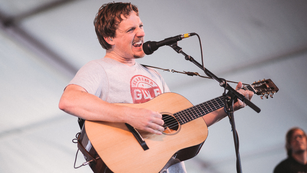 Sturgill Simpson performs at the 2015 Newport Folk Festival. (Adam Kissick for NPR)