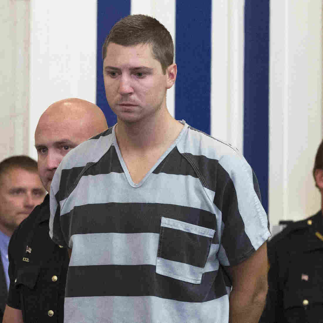 Former University of Cincinnati police officer Ray Tensing appears at Hamilton County Courthouse for his arraignment in the shooting death of motorist Samuel DuBose, on Thursday in Cincinnati. Tensing pleaded not guilty to charges of murder and involuntary manslaughter.