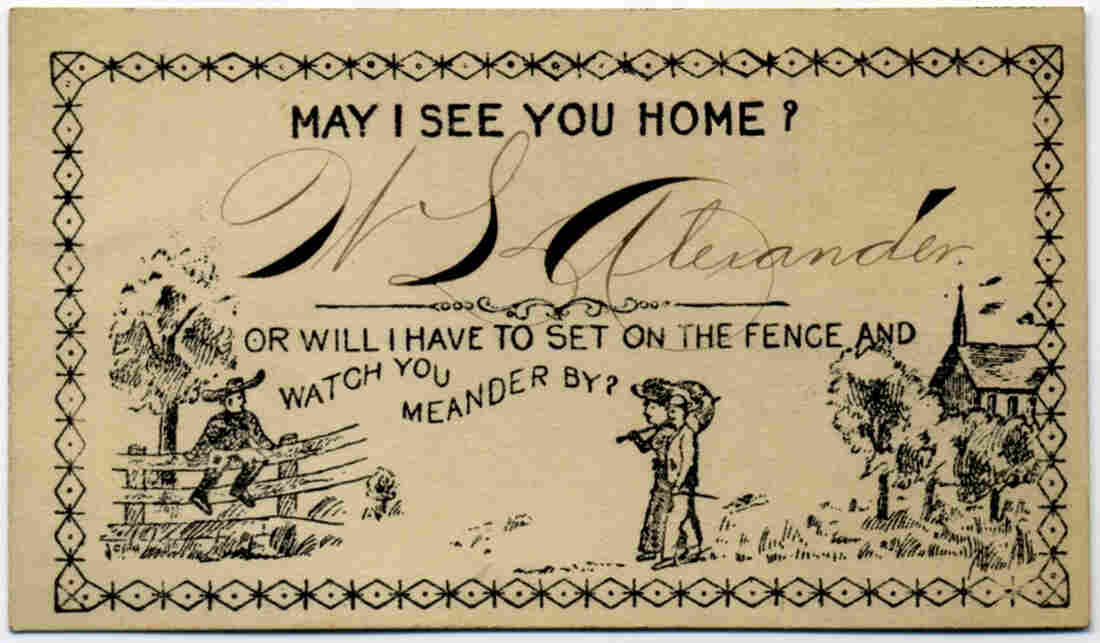May I See You Home? acquaintance card.