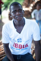 "Mohamed Soumah, 27, was the first person to be vaccinated in the Ebola vaccine trial. ""I was afraid,"" he says. ""People in the village were saying that the injection was to kill me."""