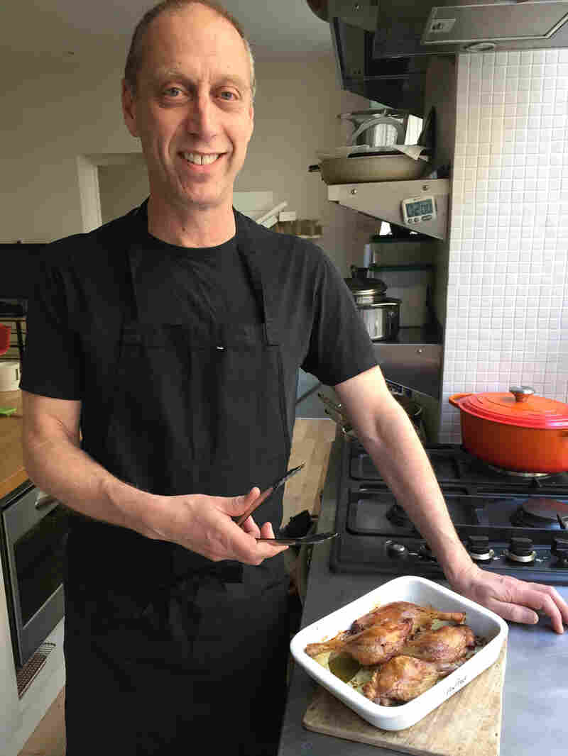David Lebovitz and his counterfeit duck confit.