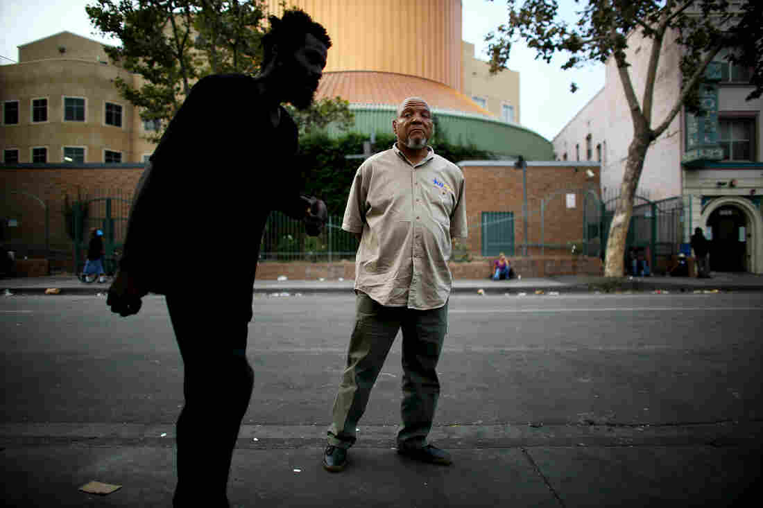 Kevin Kincey looks for homeless veterans on Los Angeles' Skid Row and helps them get off the streets.