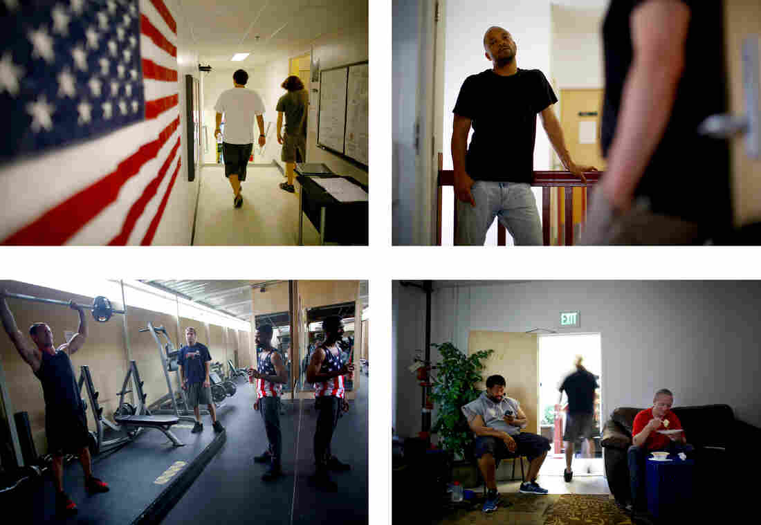 The Hollywood Veterans Center is a barracks-style halfway house for veterans of the wars in Iraq and Afghanistan.