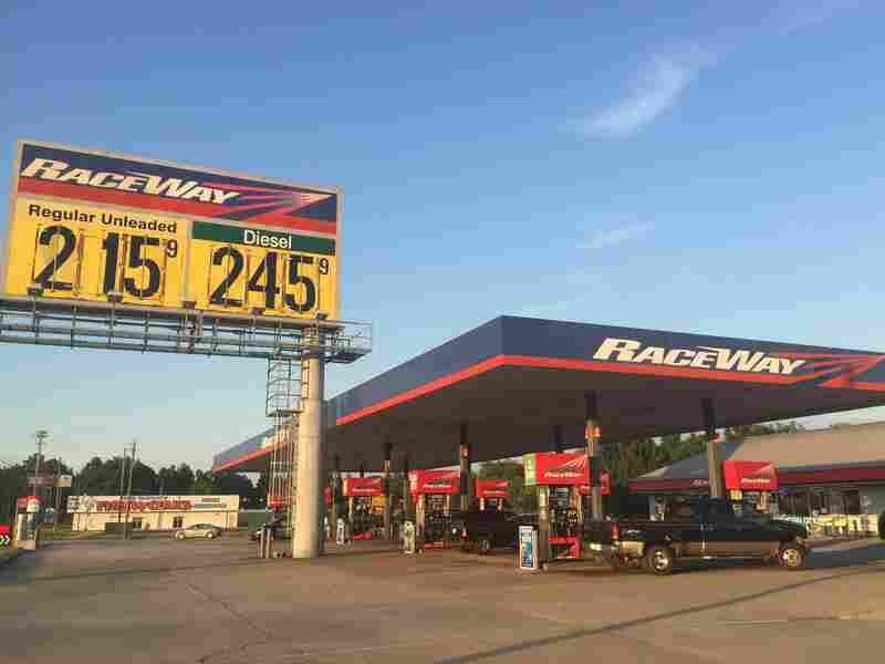 In Alabama, including this station near Montgomery, gasoline prices are below the national average, in part, because of low fuel taxes.