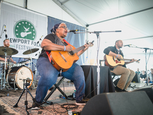 Madisen Ward And The Mama Bear perform at the 2015 Newport Folk Festival.