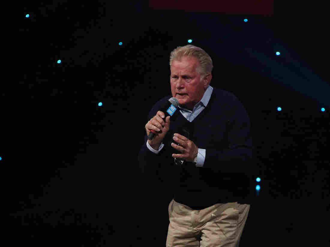 Martin Sheen performs on stage during We Day UK.
