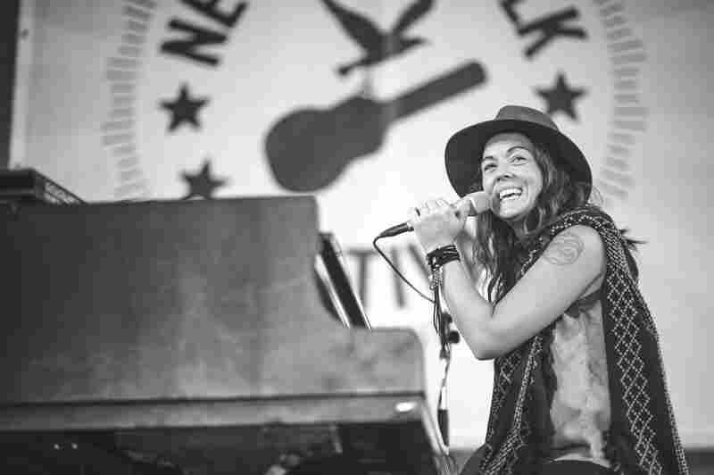 Brandi Carlile performs at the 2015 Newport Folk Festival.