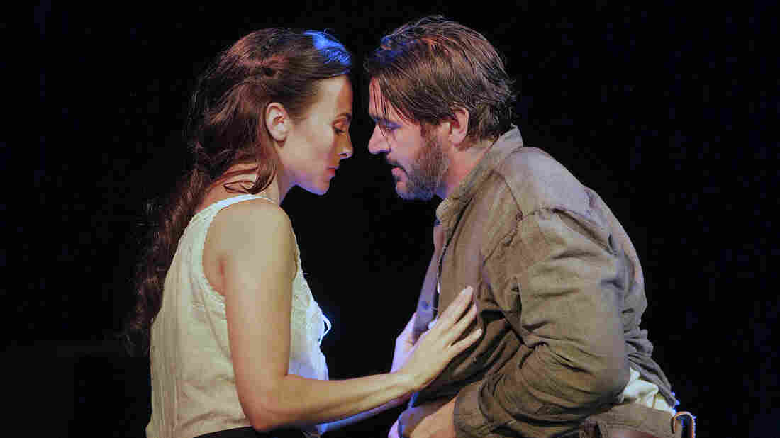 Isabel Leonard and Nathan Gunn star as Ada and Inman in the world premiere of Jennifer Higdon's Cold Mountain at the Santa Fe Opera.