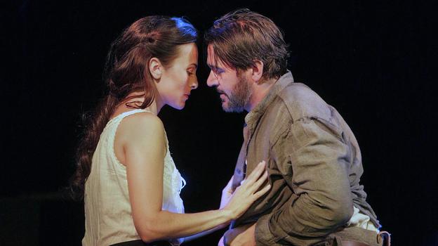 Isabel Leonard and Nathan Gunn star as Ada and Inman in the world premiere of Jennifer Higdon's Cold Mountain at the Santa Fe Opera.  (Courtesy of the Santa Fe Opera)