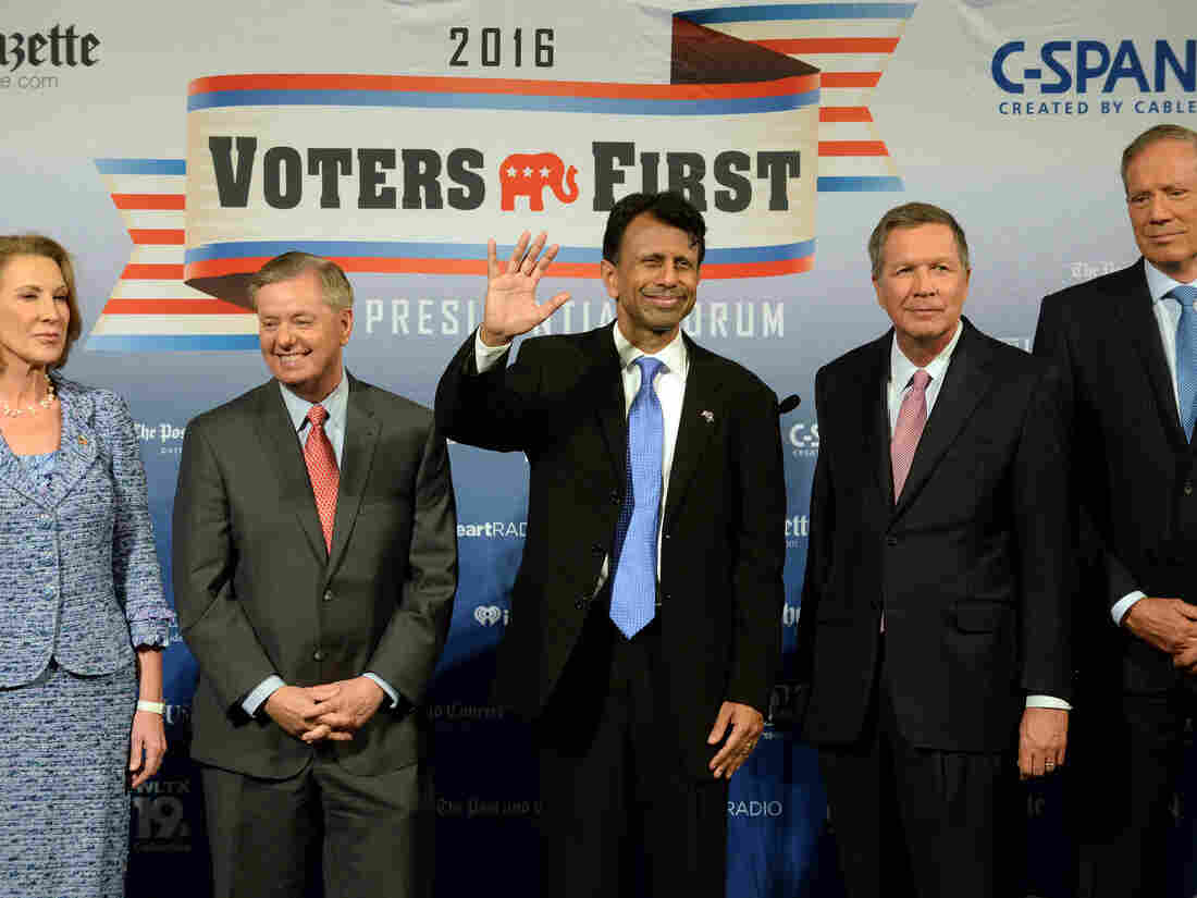 All five of these people are running for president, but it looks like only one will make it into the first Republican debate.