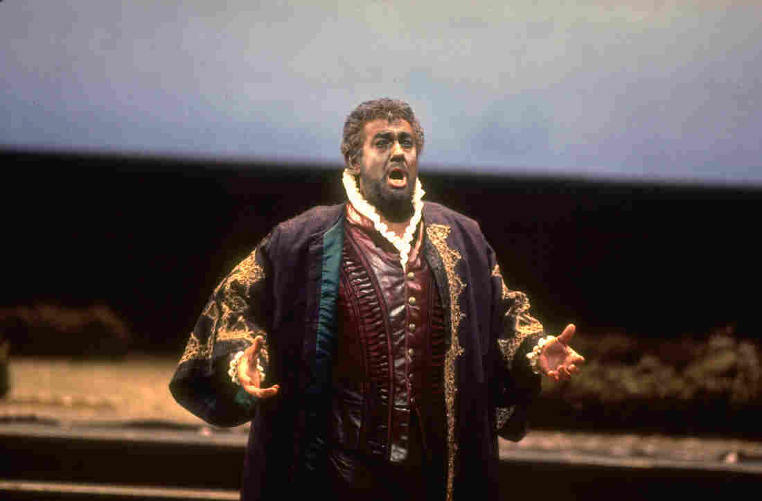 Tenor Placido Domingo performs the title role in a 1994 performance of Verdi's Otello at the Metropolitan Opera in New York.
