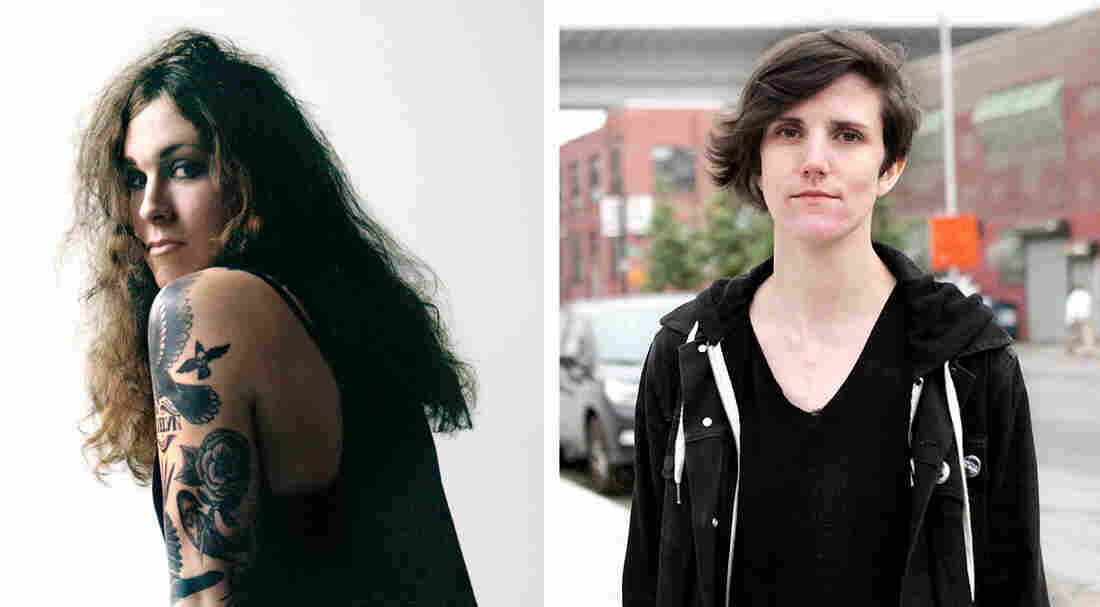 Laura Jane Grace of Against Me! (left) and Lauren Denitzio of Worriers, whose debut LP Imaginary Life was produced by Grace.