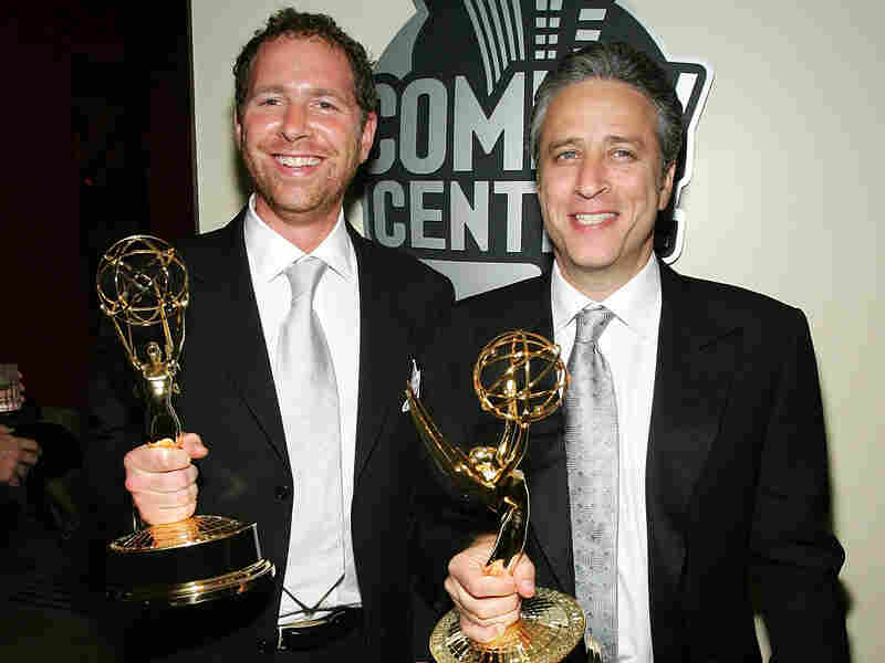 Jon Stewart and Ben Karlin, executive producer of The Daily Show from 2004 to 2006, won Emmy Awards for their work on the show in 2005.