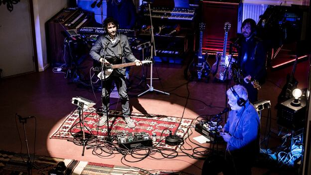 Peter Bjorn and John perform live for World Cafe. (XPN)