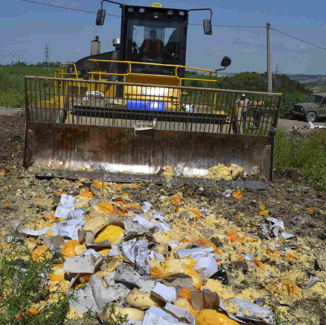 We Will Bury You: Russia Bulldozes Tons Of European Cheese, Other Banned Food