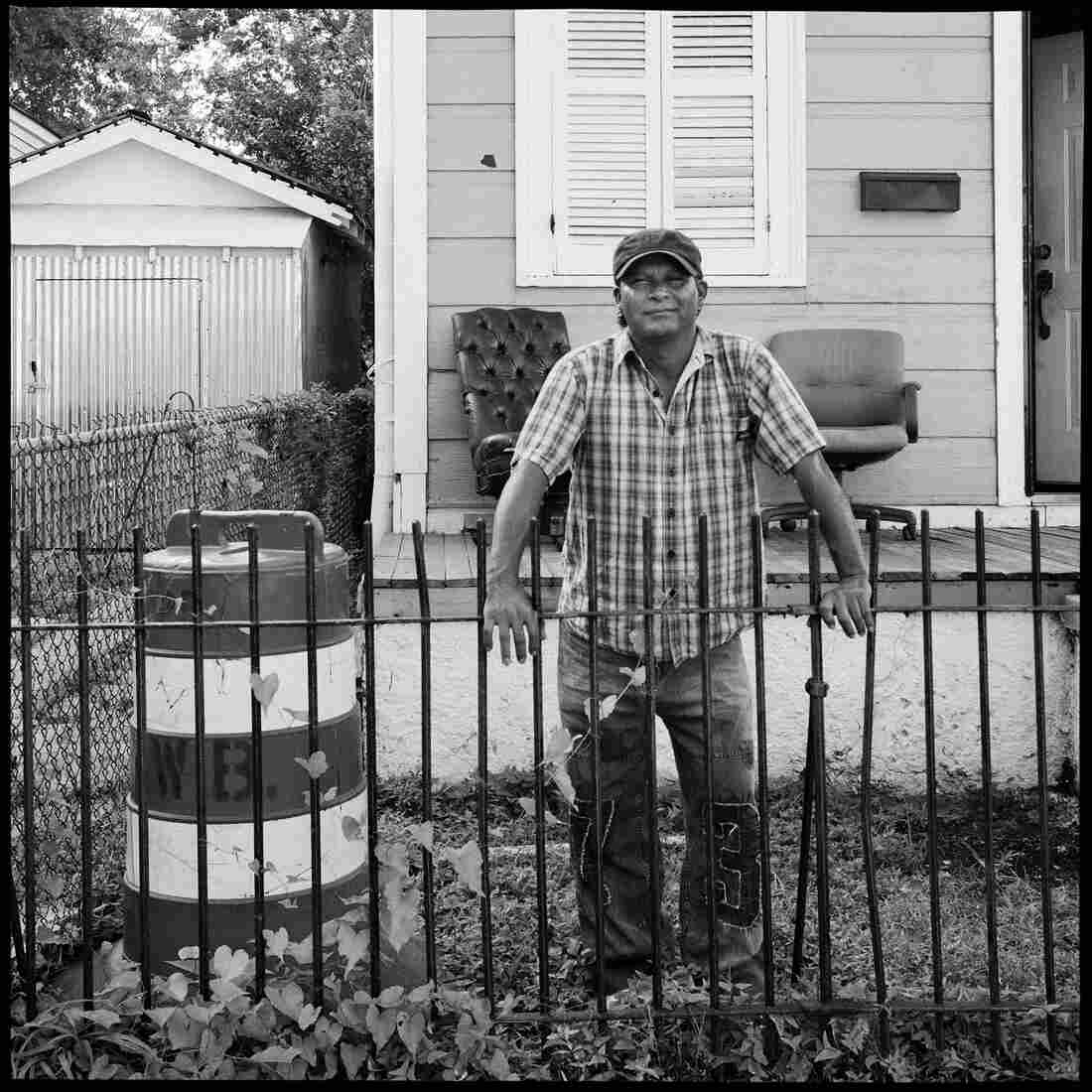 "The Ogden Museum of Southern Art's ""The Rising"" exhibition includes portraits (by photographer Jonathan Traviesa) of the day laborers who helped rebuild New Orleans after Hurricane Katrina."
