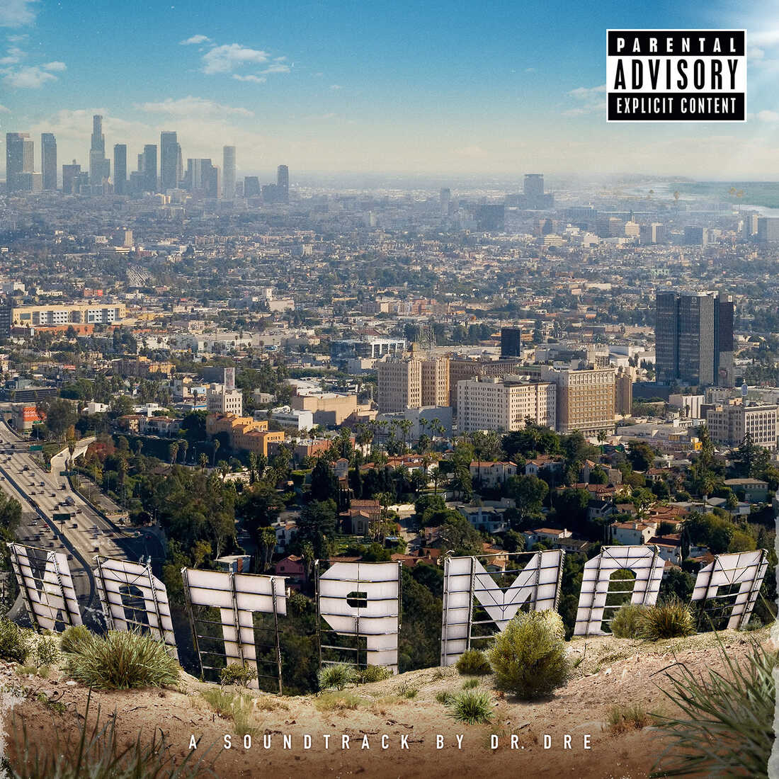 The cover of Dr. Dre's album Compton.