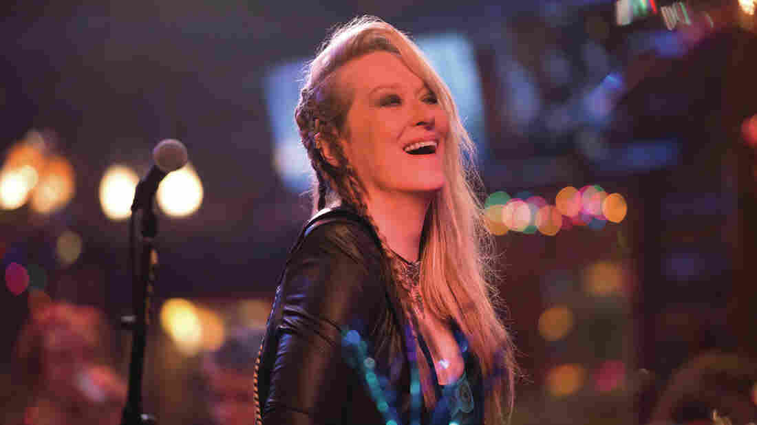 Ricki (Meryl Streep), a cover band frontwoman, in Ricki and the Flash.