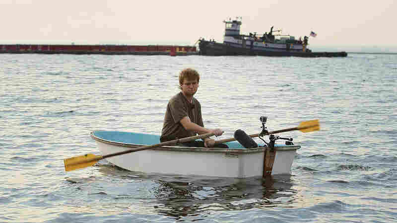 Mac DeMarco on the water near his home in Far Rockaway, Queens.