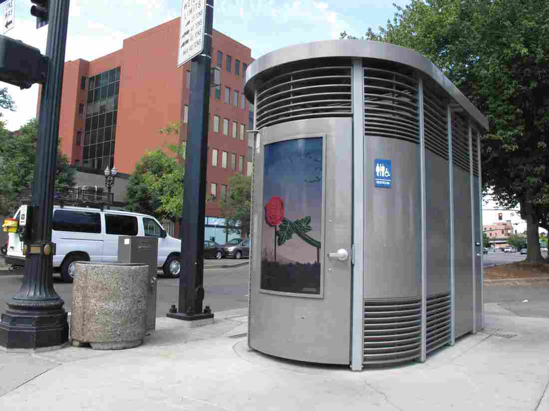 A Portland Loo in Portland, Ore. San Diego installed two of the public toilets earlier this year, but they cost more than $500,000 to install, and now residents are raising a stink.