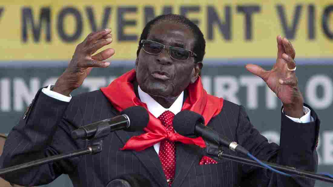 Zimbabwean President Robert Mugabe went for matching accessories during a February celebration of his 91st birthday. He appears not to be a fan of goats.