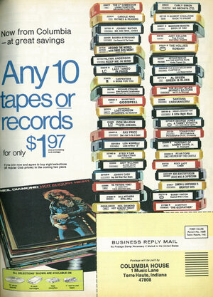 Enlarge This Image. An Advertisement For Columbia House ...
