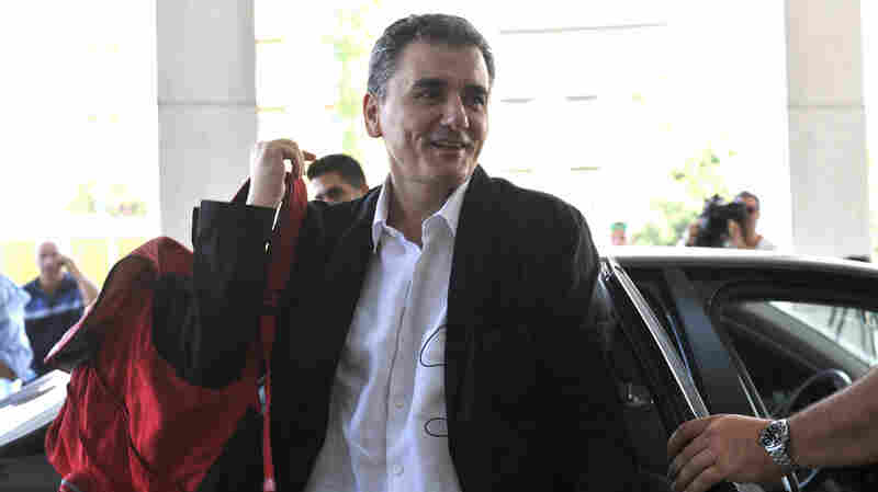 Greek Finance Minister Euclid Tsakalotos, seen in this July 31 photo, said Tuesday that only a few details still need to be worked out in the latest bailout agreement.